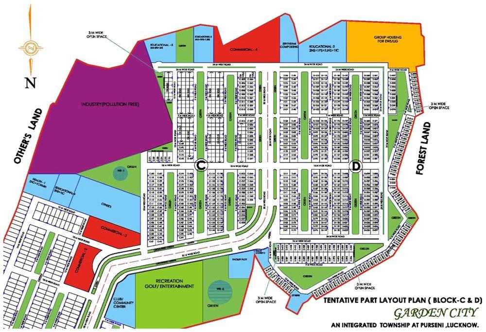 Dlf Garden City Lucknow Layout