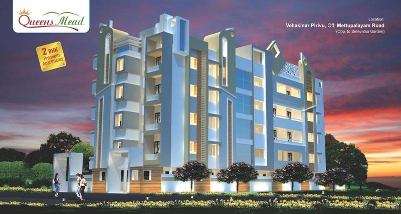 Queens Mead, Coimbatore - 16 Premium 2 BHK Apartments