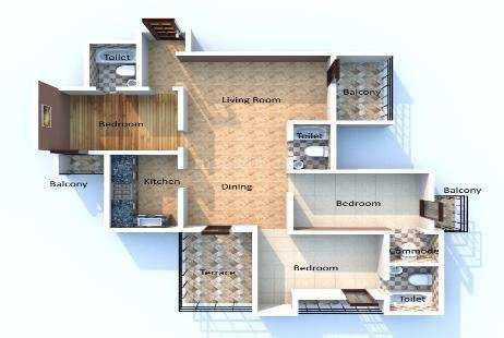 3 BHK Flats & Apartments for Sale in Sector 2, West Delhi - 10000 Sq. Meter