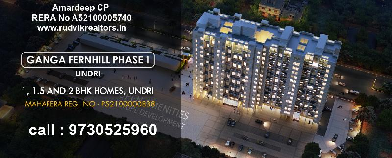 2 BHK Flats & Apartments for Sale in Undri, Pune - 3 Acre