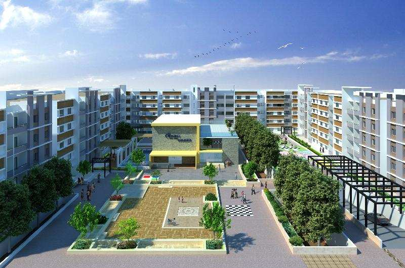 3 BHK Flats & Apartments for Sale in Electronic City, Bangalore - 4.5 Acre