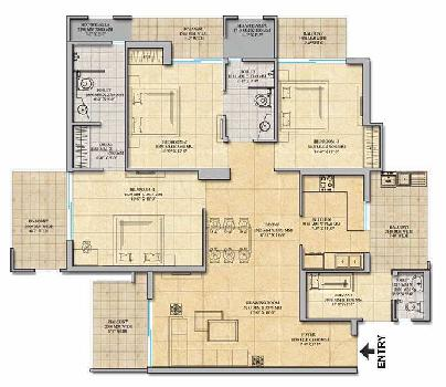 3 BHK 1990 Sq.ft. Residential Apartment for Sale in Techzone 4, Greater Noida West