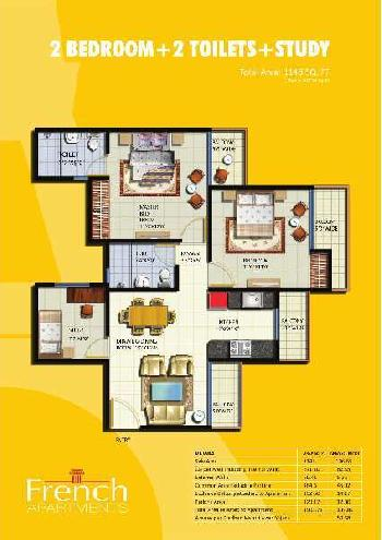 3 BHK 1148 Sq.ft. Residential Apartment for Rent in Sector 168 Noida