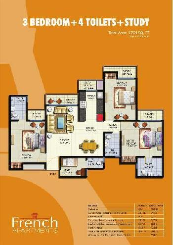 3 BHK 1764 Sq.ft. Residential Apartment for Rent in Sector 16B Greater Noida West,