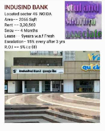 2066 Sq.ft. Commercial Shop for Rent in Sector 45 Noida