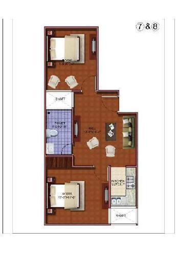 2 BHK 540 Sq.ft. Residential Apartment for Sale in Laxman Vihar, Gurgaon