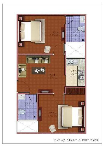 2 BHK 640 Sq.ft. Residential Apartment for Sale in Laxman Vihar, Gurgaon