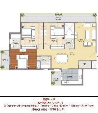 3 BHK Flat for Sale in Sector 35, Sonipat