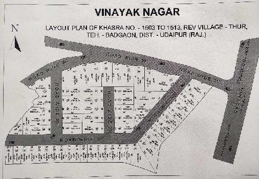 1250 Sq.ft. Residential Plot for Sale in Badgaon, Udaipur
