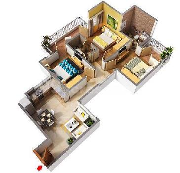 3 BHK 748 Sq.ft. Residential Apartment for Sale in Sector 70 Faridabad