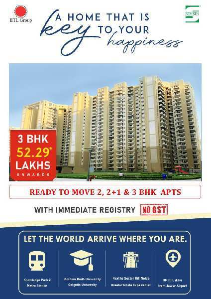 2 BHK 770 Sq.ft. Residential Apartment for Sale in Yamuna Expressway, Greater Noida