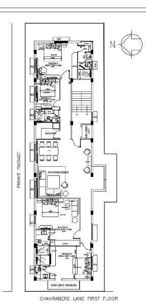 4 BHK 1920 Sq.ft. Residential Apartment for Sale in Chakraberia, Kolkata