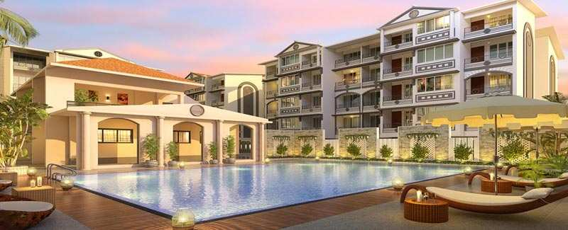3 BHK Flats & Apartments for Sale in North Goa, Goa - 1364 Sq.ft.