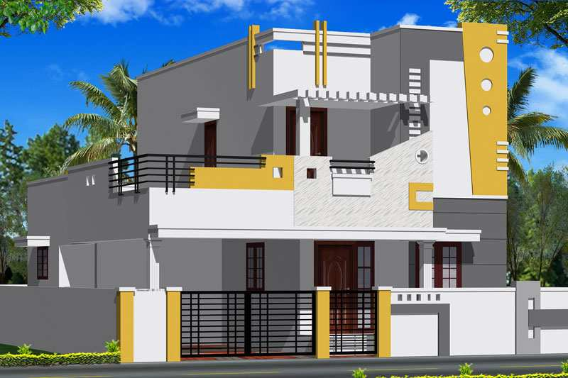 Front Elevation Of House In Coimbatore : Bhk individual houses villas for sale in kovaipudur