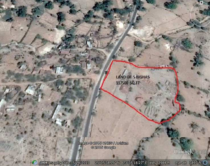 Commercial Land for Sale in Rajsamand - 5 Bigha