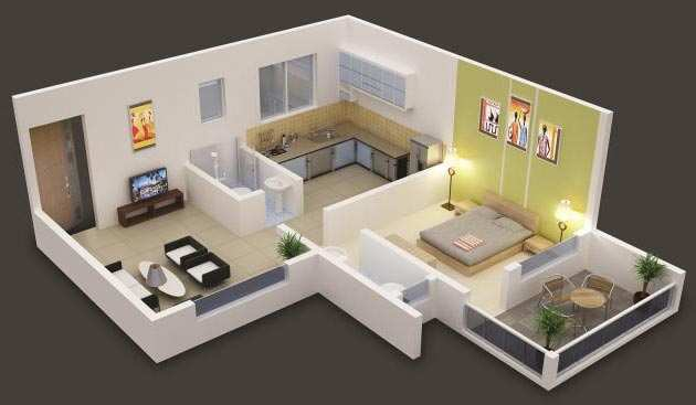 1 BHK Flats & Apartments for Sale in Rajendar Nagar, Ghaziabad - 38 Sq. Meter