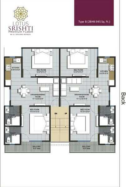2 BHK Flats & Apartments for Sale in Crossing Republik, Ghaziabad - 945 Sq. Feet
