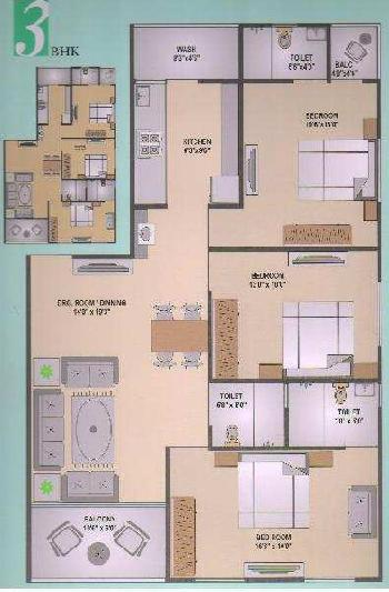 3 BHK 650 Sq. Yards Residential Apartment for Sale in Maninagar, Ahmedabad