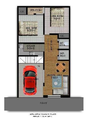 2 BHK 800 Sq.ft. Builder Floor for Sale in Morabadi, Ranchi