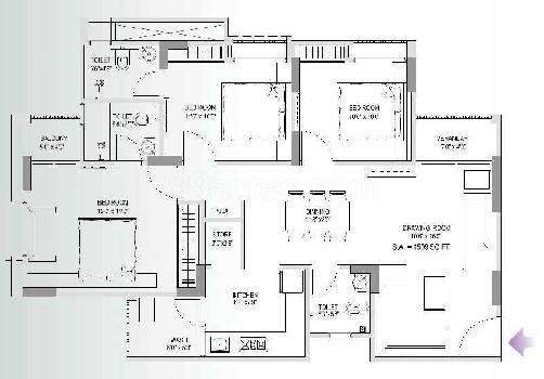 3 BHK 1509 Sq.ft. Residential Apartment for Sale in Memnagar, Ahmedabad