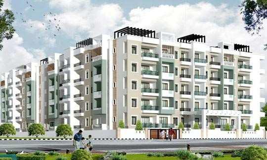 3 BHK Flats & Apartments for Sale in Kanak Nagar, Bangalore North - 1375 Sq.ft.