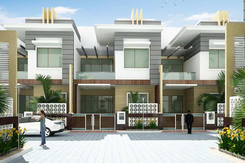 3 BHK Bungalows / Villas for Sale in Sirsi Road, Jaipur - 1770 Sq.ft.